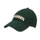 Dark Green Twill Unstructured Low Profile Hat-Arched Vermont Catamounts