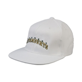 White OttoFlex Flat Bill Pro Style Hat-Arched Vermont Catamounts