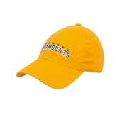 Gold Twill Unstructured Low Profile Hat-Slanted Vermont Catamounts