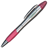 Silver/Pink Blossom Pen/Highlighter-University of Vermont