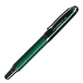 Carbon Fiber Green Rollerball Pen-University of Vermont Engraved