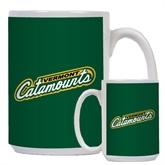 Full Color White Mug 15oz-Slanted Vermont Catamounts