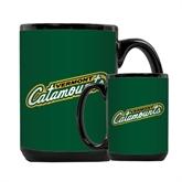 Full Color Black Mug 15oz-Slanted Vermont Catamounts