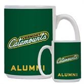 Alumni Full Color White Mug 15oz-Slanted Vermont Catamounts