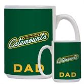 Dad Full Color White Mug 15oz-Slanted Vermont Catamounts