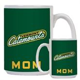 Mom Full Color White Mug 15oz-Slanted Vermont Catamounts