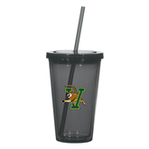 Madison Double Wall Charcoal Tumbler w/Straw 16oz-Official Logo