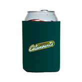 Collapsible Green Can Holder-Slanted Vermont Catamounts