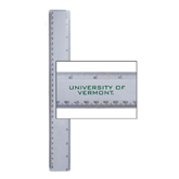 12 Inch White Plastic Ruler-University of Vermont