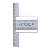 12 Inch White Plastic Ruler-University of Vermont