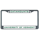 Metal License Plate Frame in Black-Vermont Catamounts