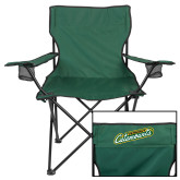 Deluxe Green Captains Chair-Slanted Vermont Catamounts