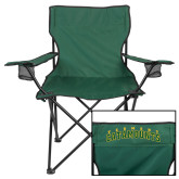 Deluxe Green Captains Chair-Arched Vermont Catamounts