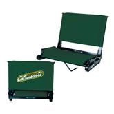 Stadium Chair Dark Green-Slanted Vermont Catamounts