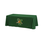 Dark Green 6 foot Table Throw-Official Logo