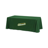 Dark Green 6 foot Table Throw-Slanted Vermont Catamounts