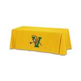 Gold 6 foot Table Throw-Official Logo