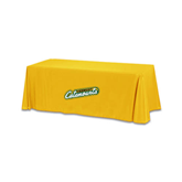 Gold 6 foot Table Throw-Slanted Vermont Catamounts