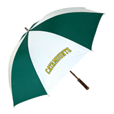 62 Inch Forest Green/White Umbrella-Arched Catamounts
