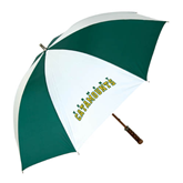 62 Inch Forest Green/White Umbrella-Arched Vermont Catamounts