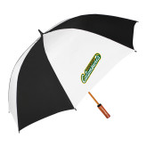 62 Inch Black/White Umbrella-Slanted Vermont Catamounts