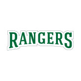 Small Decal-Rangers Wordmark, 6 inches wide