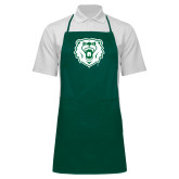Full Length Dark Green Apron-Athletic Bear Head