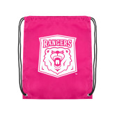 Pink Drawstring Backpack-Primary Athletic Mark