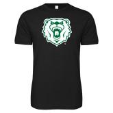Next Level SoftStyle Black T Shirt-Athletic Bear Head