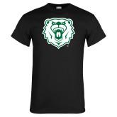 Black T Shirt-Athletic Bear Head