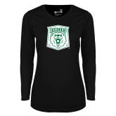 Ladies Syntrel Performance Black Longsleeve Shirt-Primary Athletic Mark