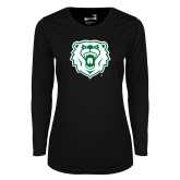 Ladies Syntrel Performance Black Longsleeve Shirt-Athletic Bear Head