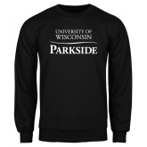 Black Fleece Crew-Parkside Wordmark Vertical