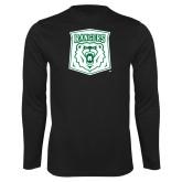 Performance Black Longsleeve Shirt-Primary Athletic Mark