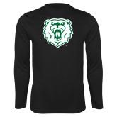Performance Black Longsleeve Shirt-Athletic Bear Head