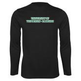 Performance Black Longsleeve Shirt-University of Wisconsin-Parkside
