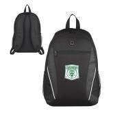 Atlas Black Computer Backpack-Primary Athletic Mark