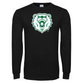 Black Long Sleeve T Shirt-Athletic Bear Head