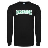 Black Long Sleeve T Shirt-Parkside Wordmark