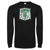 Black Long Sleeve T Shirt-Primary Logo Distressed