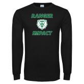 Black Long Sleeve T Shirt-Ranger Impact with Bear Head