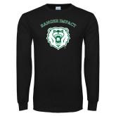 Black Long Sleeve T Shirt-Ranger Impact Arched over Bear Head