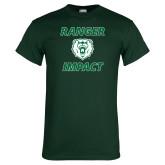Dark Green T Shirt-Ranger Impact with Bear Head