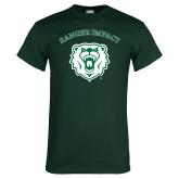 Dark Green T Shirt-Ranger Impact Arched over Bear Head