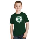 Youth Dark Green T Shirt-Athletic Bear Head
