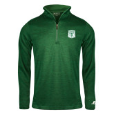 Russell Dark Green Heather 1/4 Zip-Primary Athletic Mark