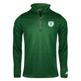 Russell Dark Green Heather 1/4 Zip-Athletic Bear Head