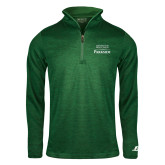Russell Dark Green Heather 1/4 Zip-Parkside Wordmark Vertical