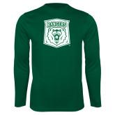 Performance Dark Green Longsleeve Shirt-Primary Athletic Mark