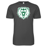 Next Level SoftStyle Charcoal T Shirt-Athletic Bear Head